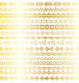 gold ornate borders vector image