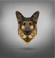 shepherd sheep-dog abstract triangle polygonal vector image