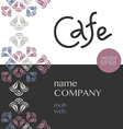 Cafe corporate style vector image