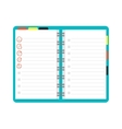 Open notebook planner vector image