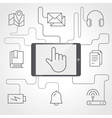 Application and devices infographics with icons vector image