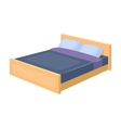 Bed icon in cartoon style isolated on white vector image
