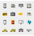 Flat media icons vector image