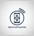 health application logo icon design vector image