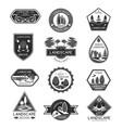 landscape design company icons set vector image