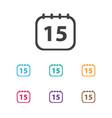 of office symbol on calendar vector image