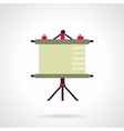 Presentation screen flat icon vector image