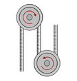 pulley vector image