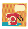 retro telephone with bubble for text vector image