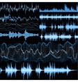 Sound waves set Music background EPS 10 vector image