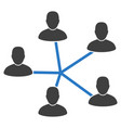 users connection flat icon vector image