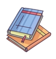 Books And Pics Albums Pile Pictures album and vector image