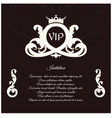 an elegant invitation for vip with a delicate vector image