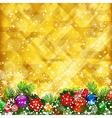 Stars golden background vector image vector image