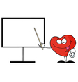 Cartoon heart teaching vector image