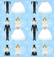 bride and groom seamless pattern vector image vector image
