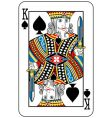 king of spades vector image vector image
