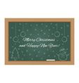 Christmas design on chalkboard vector image