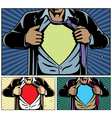 Superhero under cover vector image