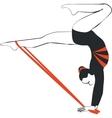 Gymnast in color 04 vector image