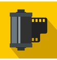 Camera film roll icon flat style vector image