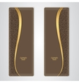 Elegant brown leather vertical banner with the vector image
