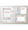 A set of office supplies for weddings invitation vector image