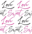 Abstract seamless love calligraphy pattern vector image