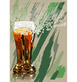 beer and foam vector image
