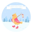bird new year vector image