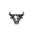 Bull Cow Head Low Polygon vector image