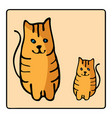cute orange red-headed cat kids with vector image