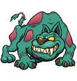 Dog zombie vector image