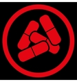 Drugs icon from Business Bicolor Set vector image