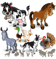 Farm Animals Collection Set 02 vector image