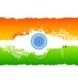 Floral Indian Flag vector image
