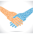 handshake and join venture between people vector image
