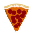 isolated slice of pizza vector image