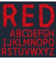 Red paper creative font vector image