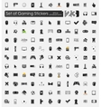 Set of gaming stickers vector image