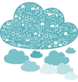 Social network clouds backgrounds of SEO internet vector image