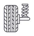 suspension car auto line icon sig vector image