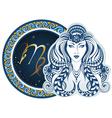 Zodiac signs - Virgo vector image