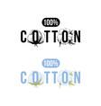 100 percents cotton logo vector image