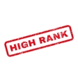 High Rank Text Rubber Stamp vector image