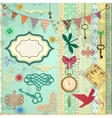 scrap booking set vector image