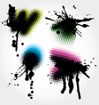 colorfull grunge splashes vector image vector image