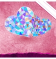 Retro heart made from color triangles EPS 8 vector image vector image