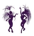 silhouettes of attractive samba queen vector image vector image