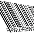 bar code on a white vector image